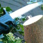 マキタの電動レシプロソー(JR101DZ)が庭木伐採に超便利だった